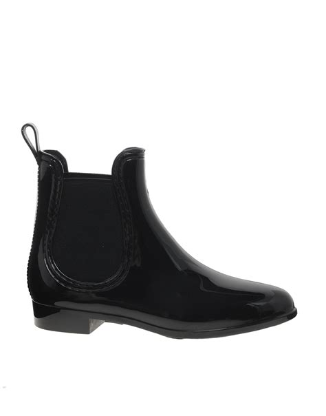 juju black chelsea jelly ankle boots shopping