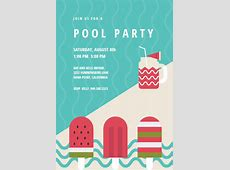 Chill Out - Pool Party Invitation Template (Free ... Free Clipart First Day Of Summer