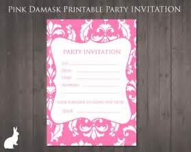 13th birthday invitation templates free invitation pink damask free printable
