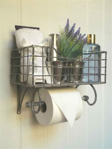 Sell Storage Decorative Rack Shabby Chic shabby chic vintage toilet roll holder storage unit rack shelf basket new ebay idea
