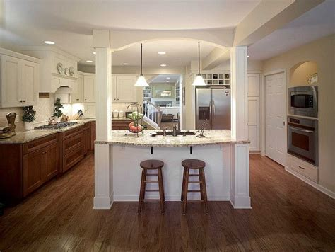 kitchen islands with posts 78 best images about columns on kitchen island on