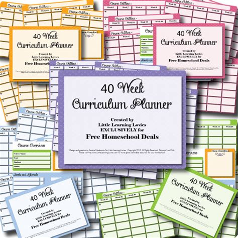 homeschool lesson plan free free 40 week homeschool curriculum planner subscriber