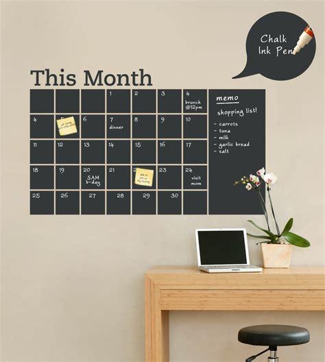 Calendar Memo Chalkboard Calendar With Memo Wall Decal