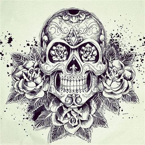 rose and sugar skull tattoos 25 best ideas about sugar skull tattoos on