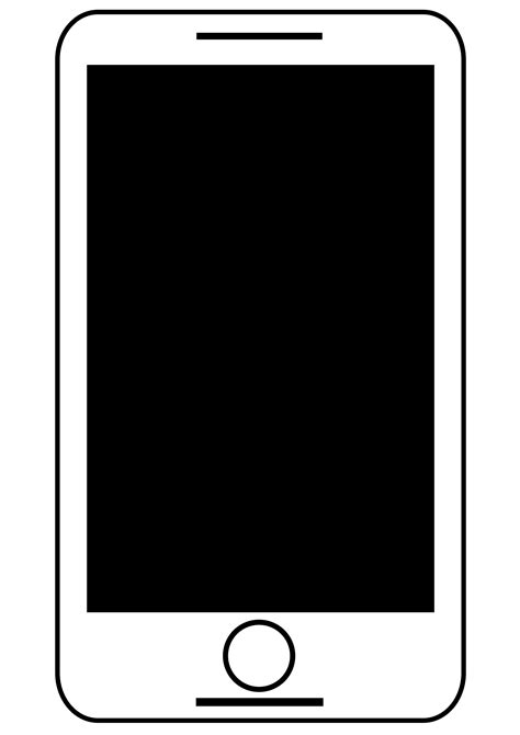 free mobile black clipart animated smart phone black and white free