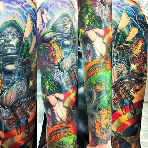 marvel tattoo sleeve 59 best images about marvel tattoos on comic