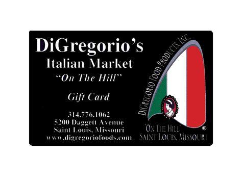 Market Street Gift Cards - gift cards digregorio s italian market