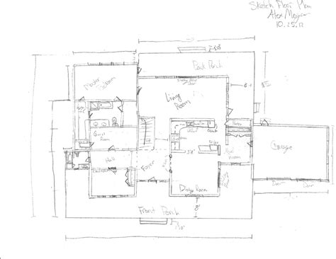 Drawing Floor Plans By Hand | draw up house floor plans house design plans