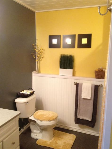yellow and brown bathroom 17 best ideas about grey yellow bathrooms on pinterest