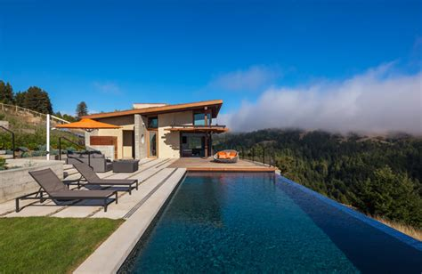 Pool House Contemporain by Pool House Contemporain Piscine San Francisco Par
