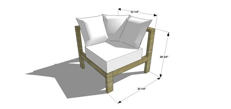 diy corner sofa plans free diy furniture plans how to build a reef sectional
