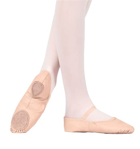 leather split sole ballet shoes ballet slippers