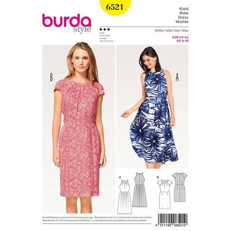dress pattern with sleeves misses dress with sleeves burda sewing pattern 6521 sew