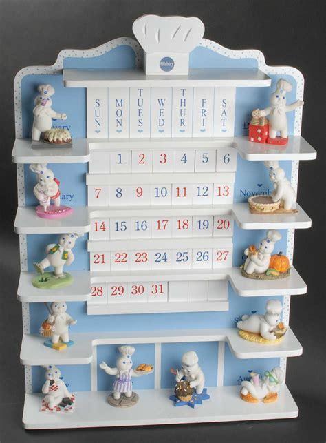 Set Doe Boy danbury mint pillsbury doughboy calendar at replacements ltd