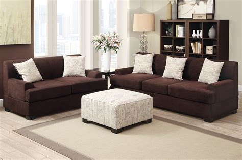 Brown Fabric Sofa by Poundex Nia F7981 Brown Fabric Sofa A Sofa