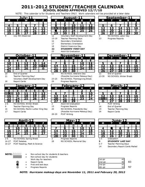 pasco county florida school calendar for 2011 2012