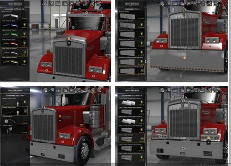 kenworth truck accessories kenworth w900 accessories pack v1 2 mod american truck