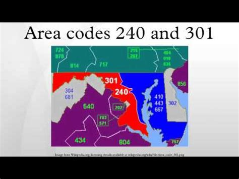 what us area code is 301 area codes 240 and 301