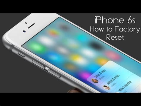 iphone 6s how to reset back to factory settings h2techvideos