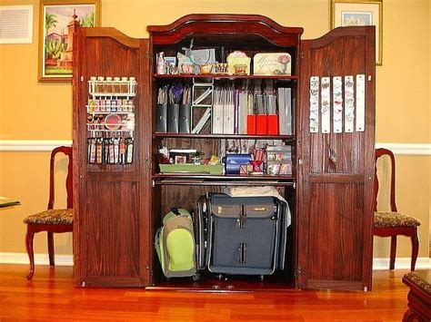 scrapbook armoire 20 best craft armoire images on pinterest apartment