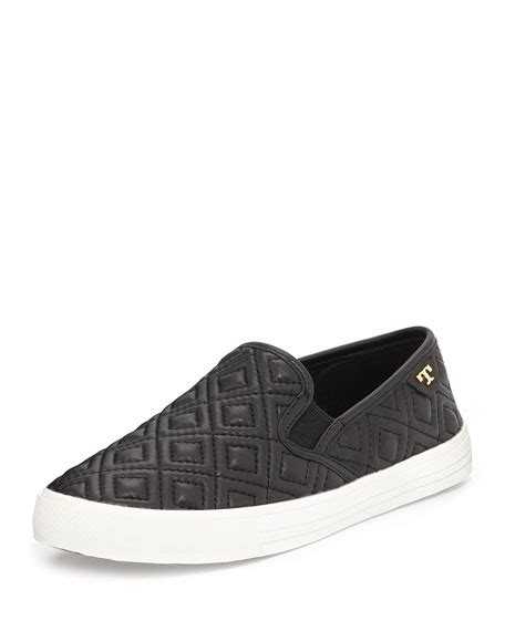 Nestela Texture Platform Slip On burch quilted slip on sneaker black