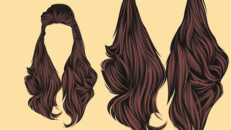 hair pattern adobe illustrator vector hair adobe illustrator youtube