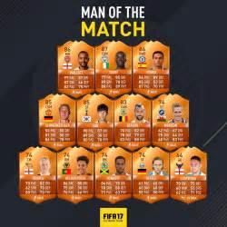 fifa 17 man of the match full list of fut motm orange cards
