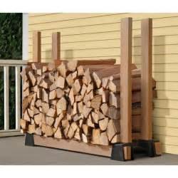 9 easy diy outdoor firewood racks the garden glove