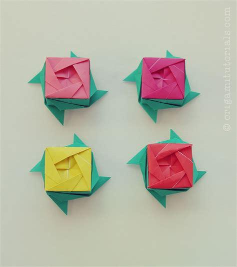 Origami Rosr - origami box ayako kawate origami tutorials