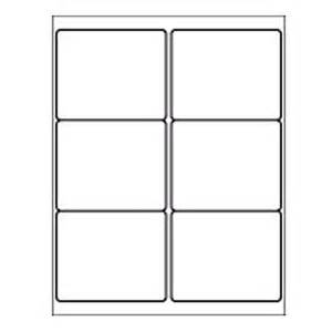 Xerox Label Templates by 6 Up Sheet Label 4 X 3 1 3 White