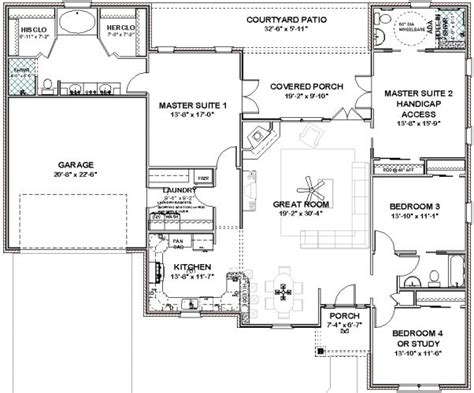 master house plans floor plans two master suites free home design ideas images