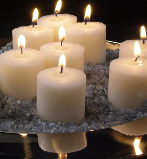 Unscented Votive Candles 21 Ivory Votive Candles 10 Hour Unscented