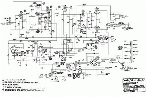 schematic diagram princeton reverb ii schematic or circuit diagram