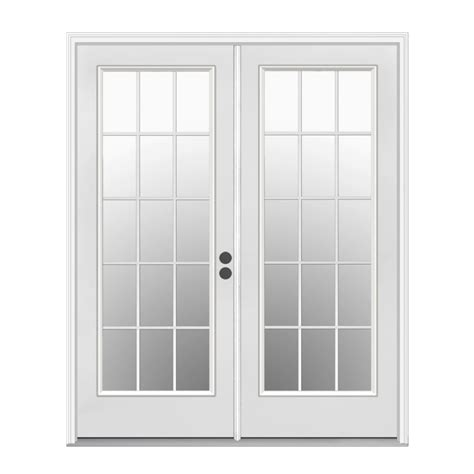 images of french doors shop reliabilt 71 5 in 15 lite glass primer white steel