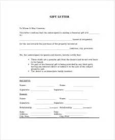 Mortgage Gift Letter Uk Sle Gift Letters 41 Exles In Pdf Word