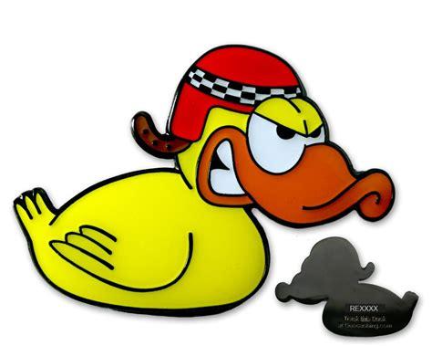 Racing Duck Aufkleber by Rennente Geocoin Calimero