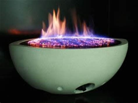 fire bowl double sided see through contemporary gas