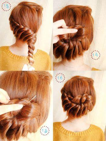 elegant twist hairstyles elegant twist updo diy tutorial with step by step