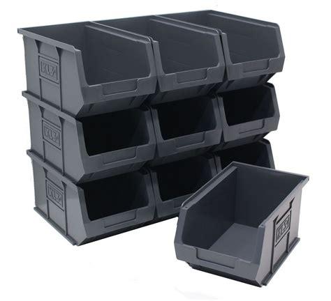 Box Plastik X 10 new made 100 recycled plastic parts storage bins