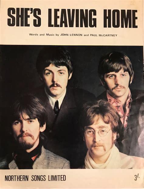 the beatles she s leaving home 1967 uk sheet