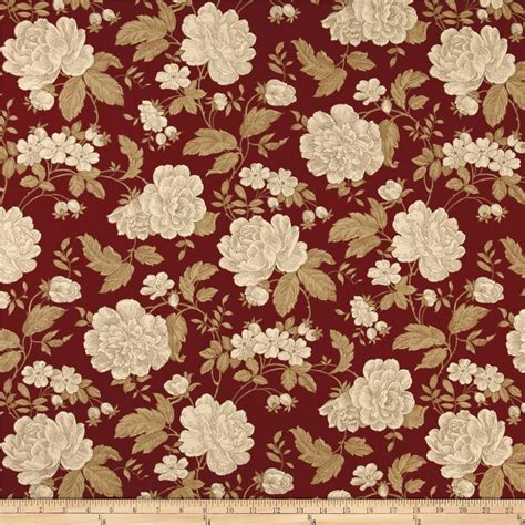 floral home decor fabric ansley home decor cotton duck floral burgundy