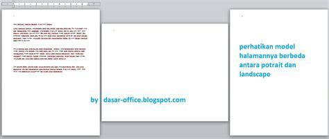 cara membuat satu halaman landscape di word 2010 cara membuat halaman berbeda di ms word terbaru
