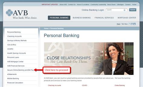 avb bank avb bank banking login cc bank