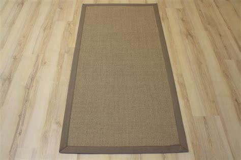 teppich läufer 100 x 300 sisal teppich salvador mit bord 252 re creme stein 300x400 cm