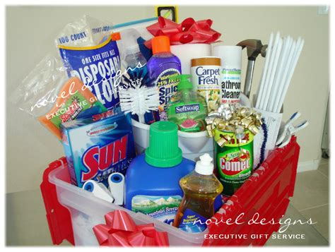 new home essentials gift basket special theme gifts