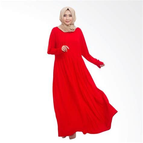 Gamis Nafah4 Merah Syar I jual mimumoo kaftan abaya jersey dress muslim syar i