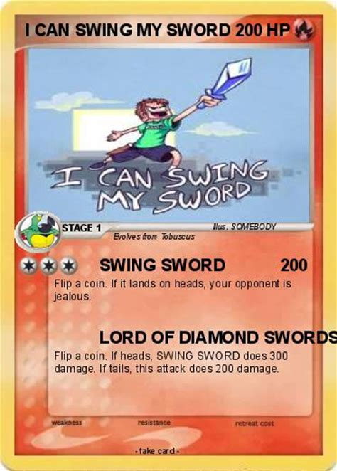 can i swing my sword pok 233 mon i can swing my sword swing sword my pokemon card