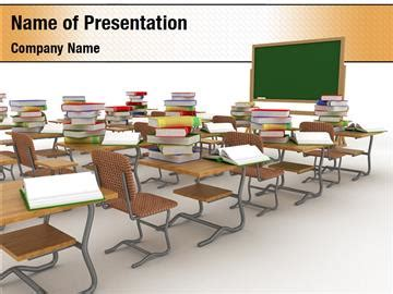 School Desk In A Classroom Powerpoint Templates School Desk In A Classroom Powerpoint Classroom Powerpoint Templates