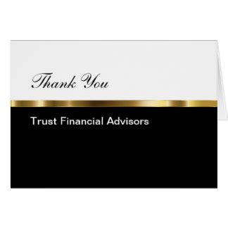 Financial Advisor Thank You Letter small thank you note cards zazzle