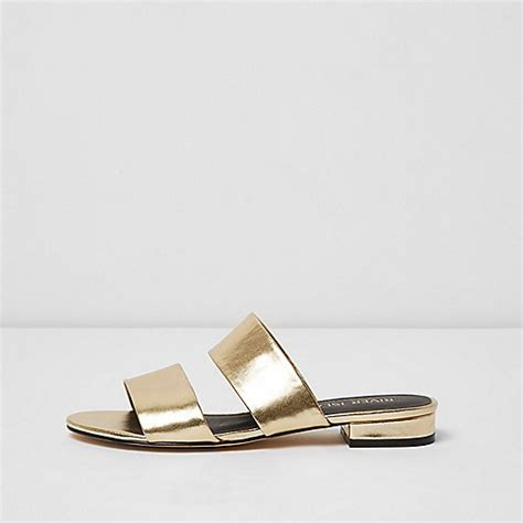 gold wide fit sandals gold two wide fit mules sandals shoes boots